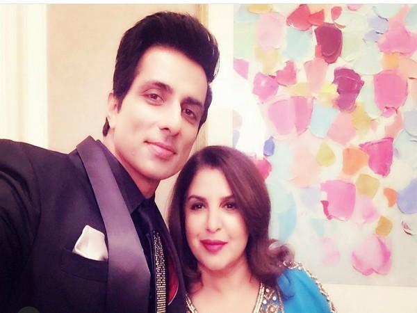 Sonu Sood and Farah Khan (Image source: Instagram)