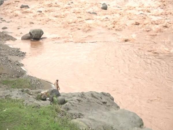 Visuals of a river at Udhampur