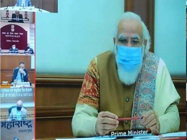 Prime Minister Narendra Modi during 34th PRAGATI interaction (Photo/ANI)