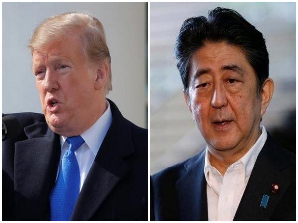 US President Donald Trump, Japanese PM Shinzo Abe (representative image)