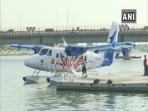 Seaplane in Gujarat. Photo/ANI