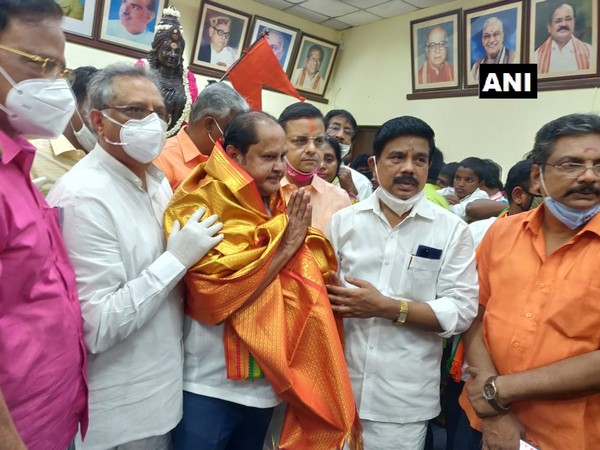 MLA Ku Ka Selvam at the BJP office on August 5. (Photo/ANI)