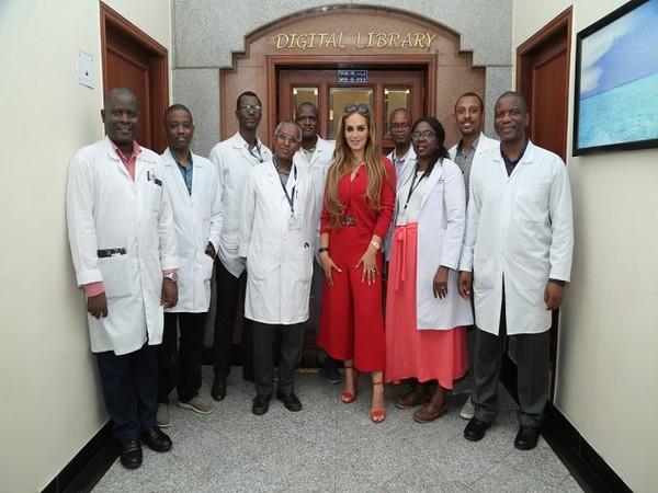 Senator Dr. Rasha Kelej, CEO of Merck Foundation with Merck Foundation Oncology Fellowship Alumni