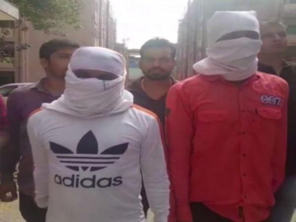 Vinod alias Tony and Krishna alias 007 James Bond arrested by Delhi Police. Photo/ANI