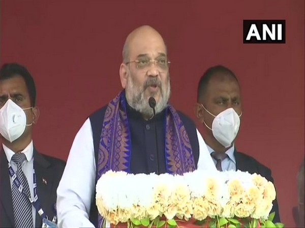 Union Home Minister Amit Shah at a public rally in Cooch Behar, West Bengal on Thursday.