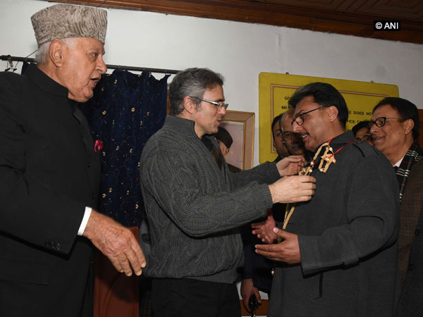 Retired Inspector General of Police Shafaqat Watali joined NC in presence of party president Farooq Abdullah and Omar Abdullah on Friday