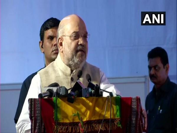 Union Home Minister Amit Shah speaking at an event in New Delhi on Monday.