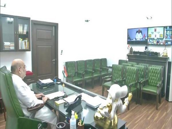 Union Home Minister Amit Shah during review meeting on Cyclone 'Tauktae'. (Image courtesy: PIB)