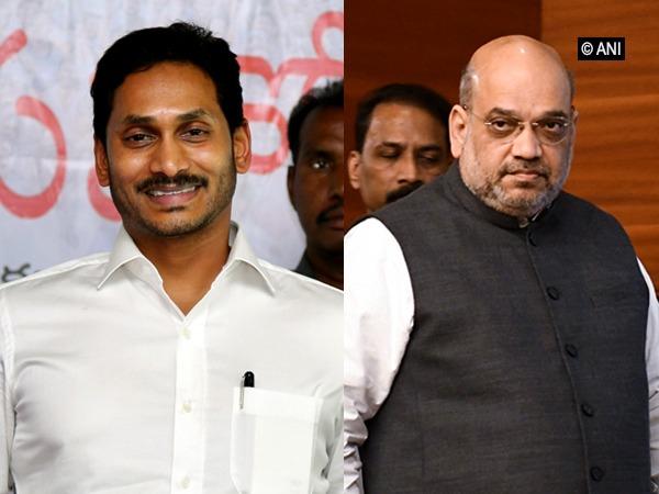 Andhra Pradesh Chief Minister YS Jagan Mohan Reddy, Union Home Minister Amit Shah. File photo/ANI