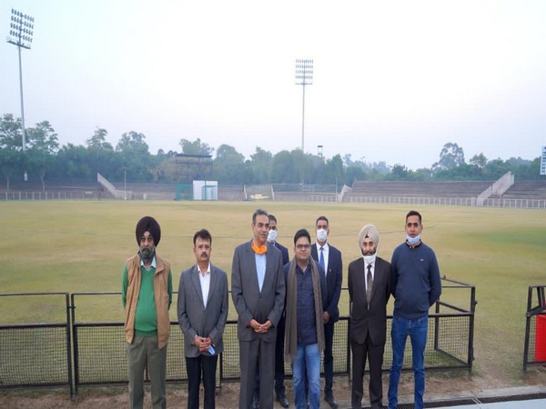 BCCI secretary Jay Shah with PCA and UTCA Chandigarh officials. (Photo/ Jay Shah Twitter)