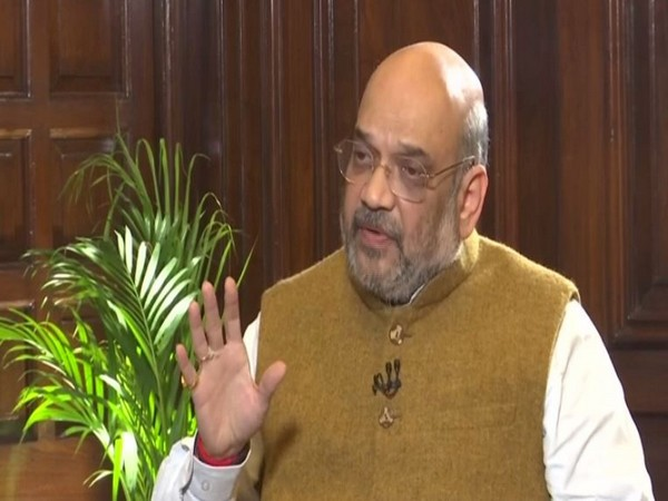 Union Home Minister Amit Shah speaking to ANI in New Delhi on Tuesday. Photo/ANI
