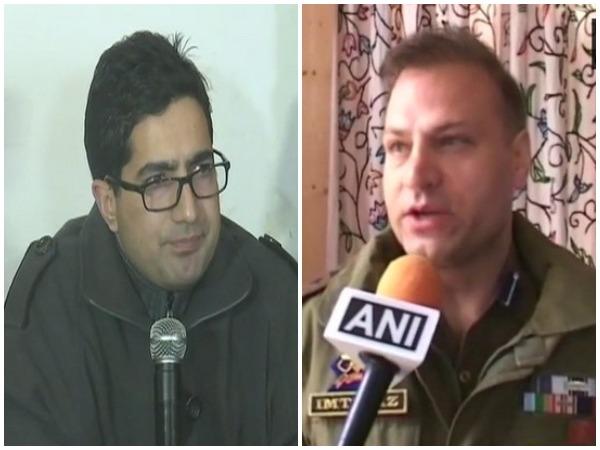 JKPMS founder Shah Faesal (Left), Kashmir SSP Imtiyaz Hussain (Right) [File Pictures]