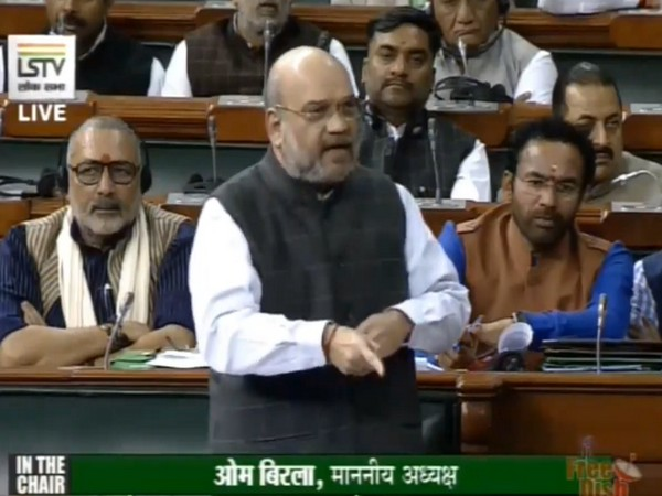Union Home Minister Amit Shah speaking in the Lok Sabha on Wednesday. Photo/LSTV