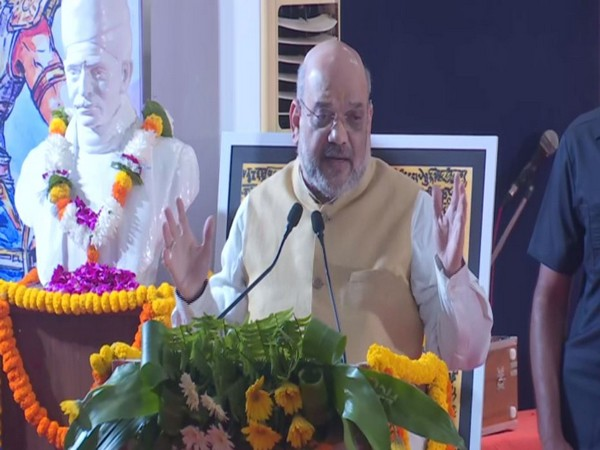 Union Home Minister Amit Shah speaking at an event in Varanasi on Thursday. Photo/ANI