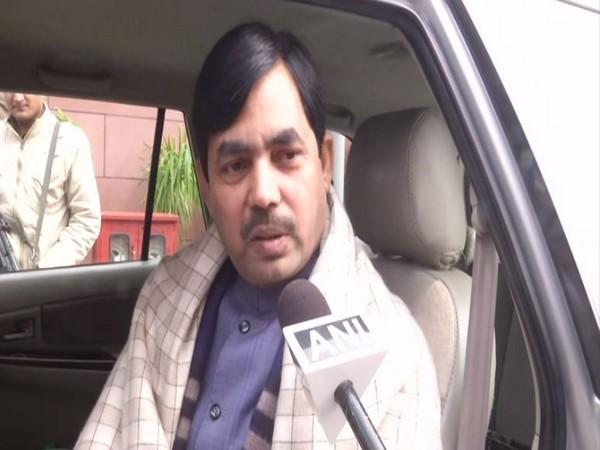 BJP leader Shahnawaz Hussain speaking to ANI in New Delhi on Thursday. Photo/ANI