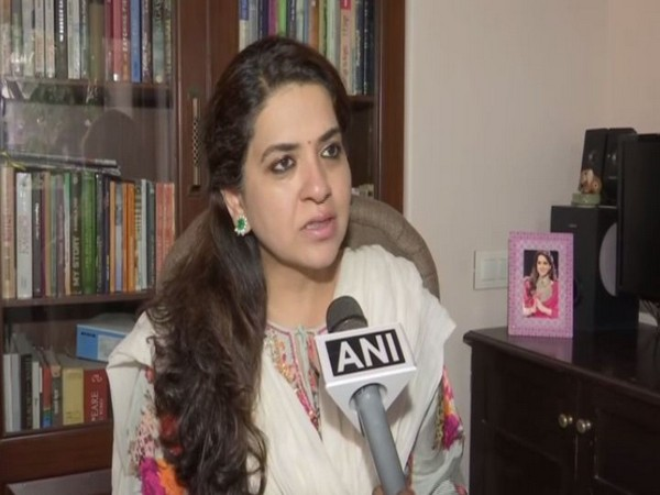 BJP spokesperson Shaina NC talking to ANI in Mumbai on Tuesday. photo/ANI
