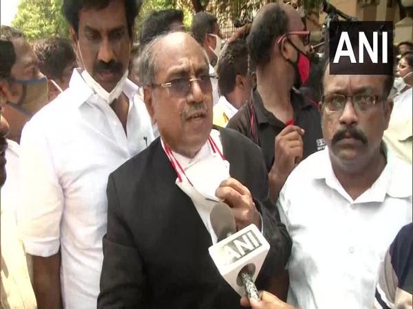 Shanmugasundaram, advocate of DMK Rajya Sabha MP, RS Bharathi