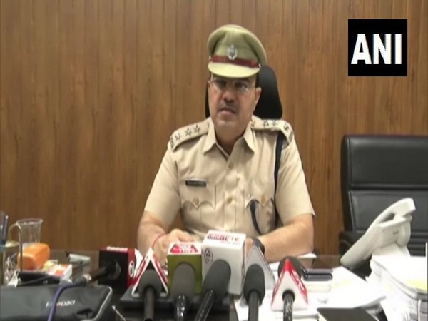 Gurugram SP Crime Shamsher Singh while addressing a press conference in Gurugram on Tuesday. Photo/ANI