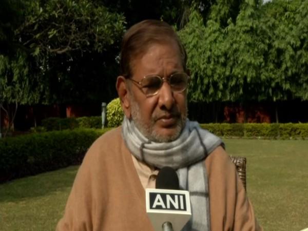 LJD chief Sharad Yadav speaking to ANI in New Delhi on Sunday. Photo/ANI