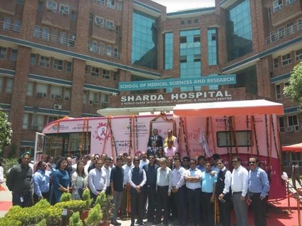 Inauguration of Project Arogya-Mammography Van at Sharda Hospital