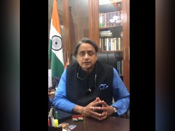 Thiruvananthapuram MP Shashi Tharoor in the video shared by Congress on Thursday. Photo/Twitter