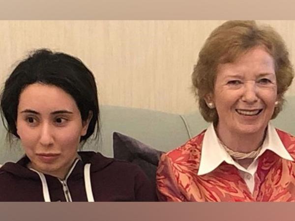 'Missing' Dubai princess Sheikha Latifa with former Irish President Mary Robinson (CREDITS: TWITTER)