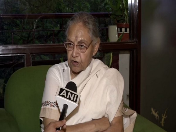 Delhi unit Congress chief Sheila Dikshit while speaking to ANI on Saturday. Photo/ANI