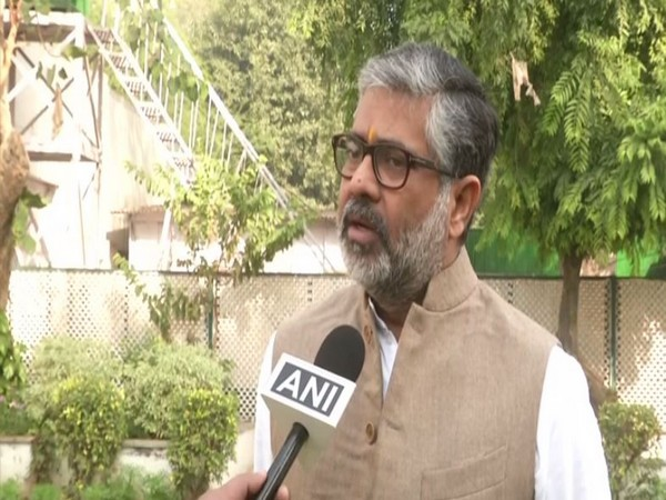BJP MP Neeraj Shekhar speaking to ANI on Wednesday in New Delhi.