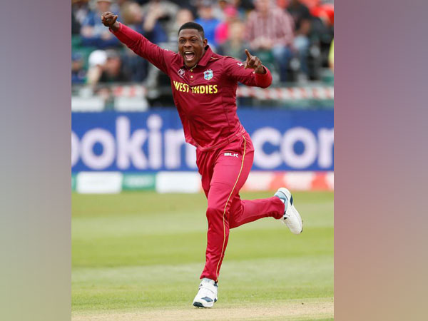 West Indies fast bowler Sheldon Cottrell