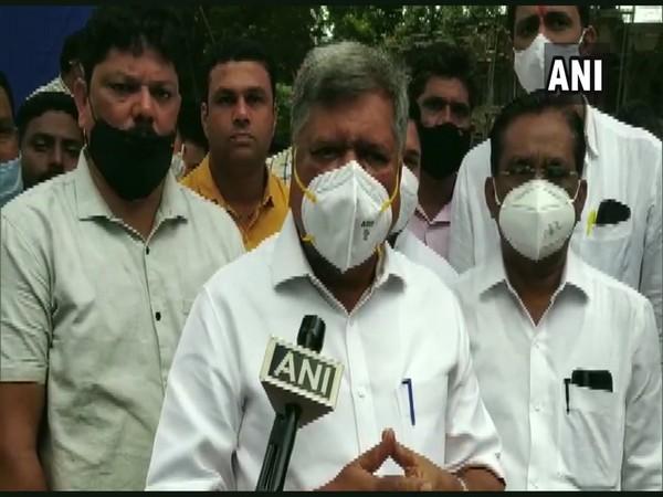 Karnataka Minister Jagdish Shettar speaking to reporters in Bengaluru on Tuesday. [Photo/ANI]