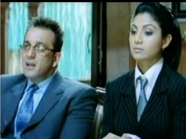 Still from the video shared by actor Sanjay Dutt featuring Shilpa Shetty to mark the 15-year completion of the movie 'Dus' (Image source: Instagram)