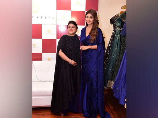 Shilpi Gupta,  the Founder & Creative Director of Shilpi Gupta Couture and Shilpa Shetty during the launch