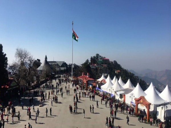Mall Road in Shimla (Photo/ANI)