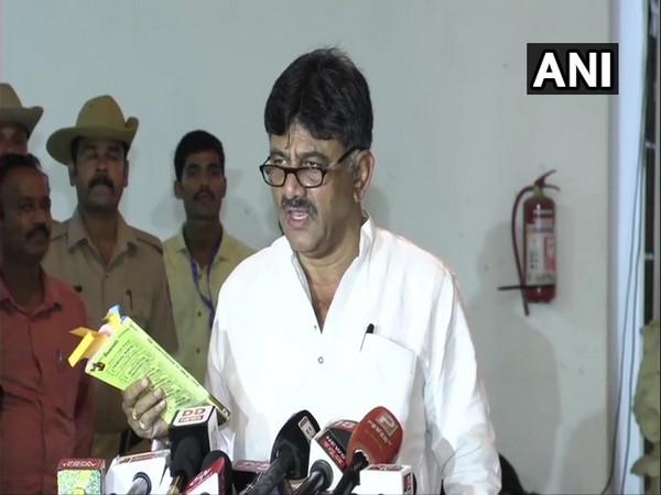 Congress leader DK Shivakumar addressing the media in Bengaluru on July 22.