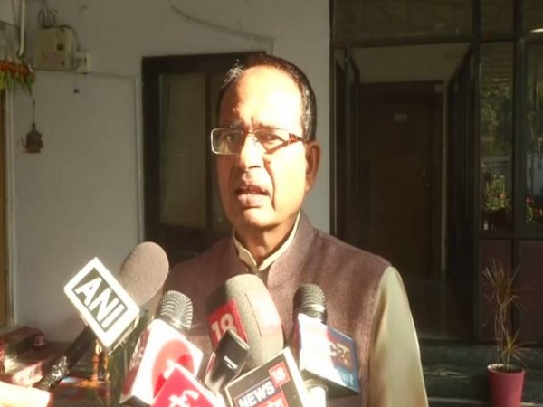 Former Madhya Pradesh chief minister Shivraj Singh Chouhan speaking to media persons in Bhopal on Saturday. Photo/ANI