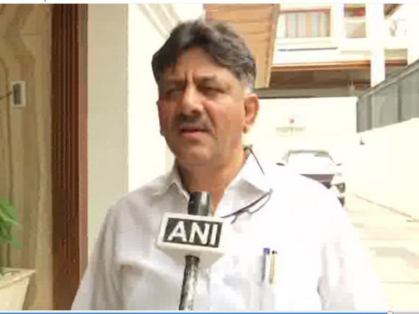 Congress leader DK Shivakumar speaking to ANI