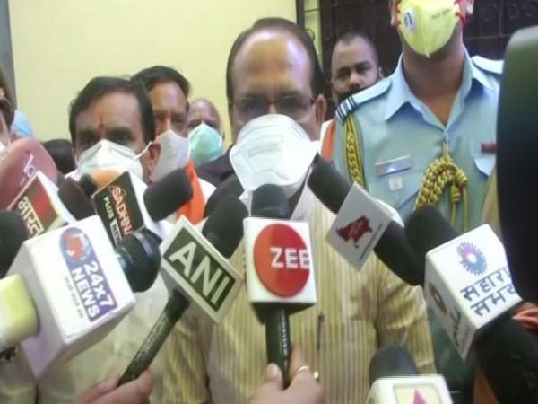 Madhya Pradesh Chief Minister Shivraj Singh Chouhan speaking to reporters on Tuesday (Photo/ANI)