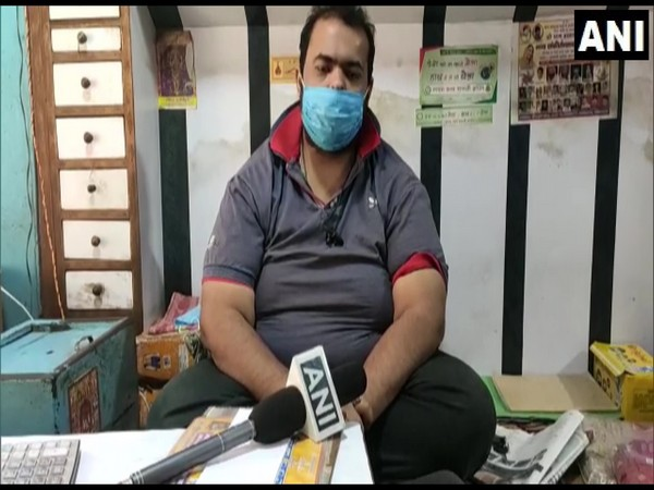 A shopkeeper from Uttar Pradesh's Shamli talking to ANI on Friday over ban of crackers in Delhi.