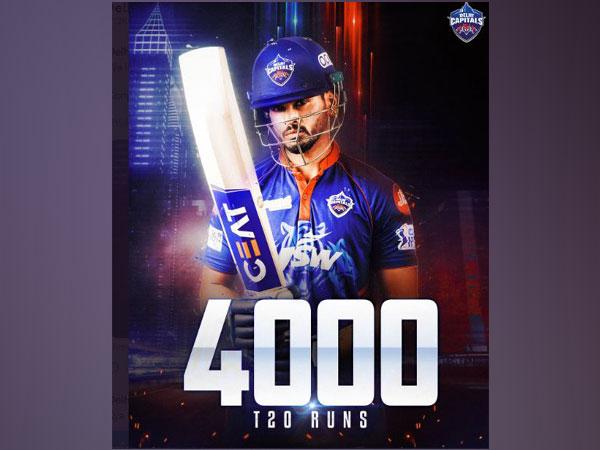 Shreyas Iyer reached 4000 runs in T20s (Photo/DC twitter)