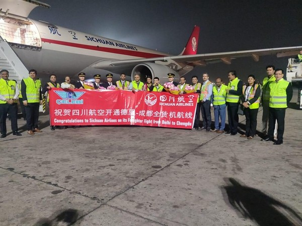 Sichuan Airlines commences freighter aircraft operations from Delhi's IGI Airport.