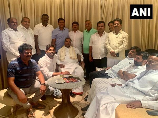 Congress legislative party leader Siddaramaiah meeting party MLAs in Bengaluru, Karnataka on Sunday.