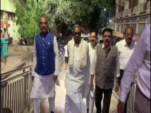 Congress leader Siddaramaiah, DK Suresh (brother of DK Shivakumar) and others, came to visit Shivakumar at the RML hospital; they were not allowed to meet him.