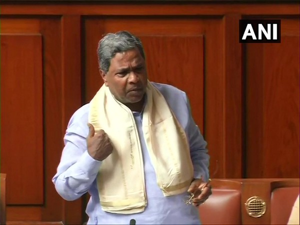 Congress leader Siddaramaiah speaking in the state assembly on Thursday