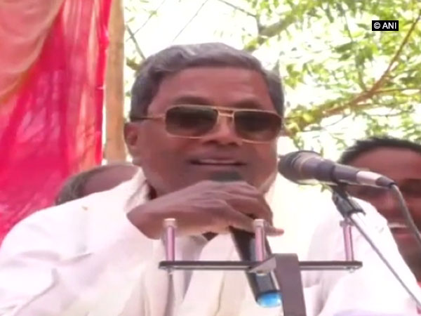 Former Chief Minister and Congress leader Siddaramaiah addressing an event in Bagalkot's Badami on Tuesday.