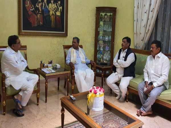 Congress leaders, including Siddaramaiah holding meeting at former deputy chief minister Dr G Parameshwar's residence on Saturday. (Photo/ANI)