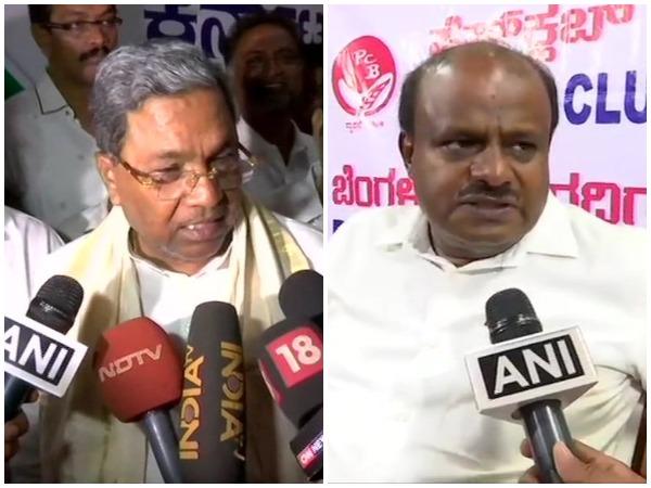 Siddaramaih (left) and HD Kumaraswamy (right)