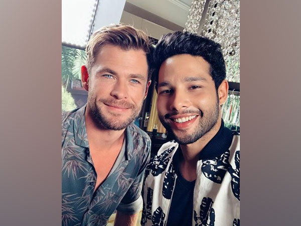 Chris Hemsworth and Siddhant Chaturvedi (Image courtesy: Instagram)