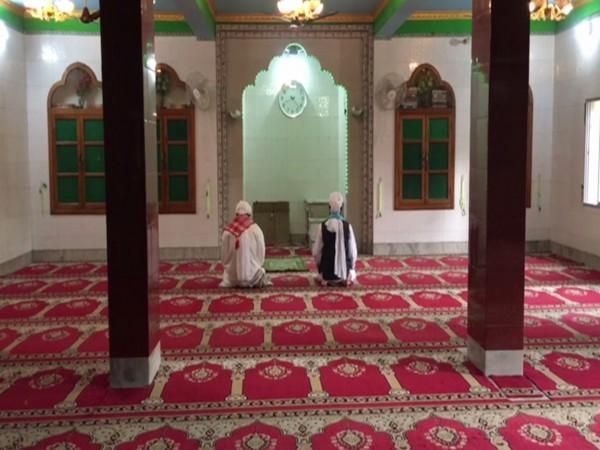 A visual from Jama Masjid, Siliguri on Monday. Photo/ANI