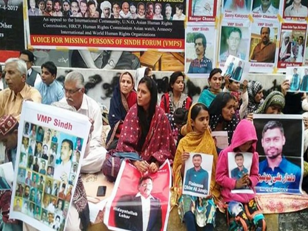 Protests by families of missing persons in Sindh (File pic)