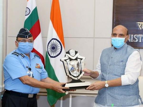 Rajnath Singh presented Raksha Mantri Trophy for Command Hospitals of AFMS on Friday.